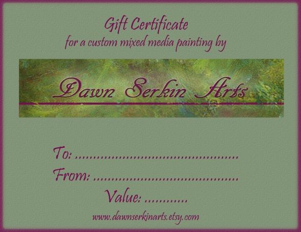 etsy gift certificate